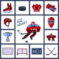 Jeu d'icônes de hockey