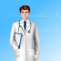 Affiche de médecin de sexe masculin