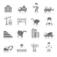 Jeu d'icônes de construction