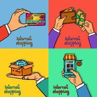 Concept de design shopping en ligne vecteur
