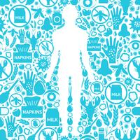 Arrière-plan des symptômes d'allergie