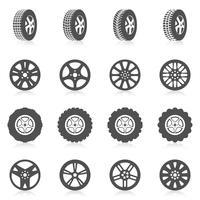 pneu icon set vecteur