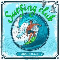 Affiche de surf