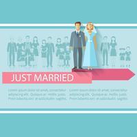 Affiche d'invités de mariage vecteur