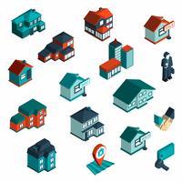 Icône de l'immobilier isométrique