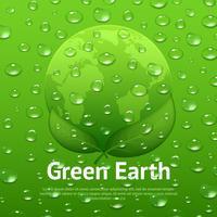 Affiche écologique de gouttes d'eau vecteur