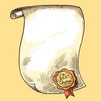 Rouleau de papier avec joint vecteur