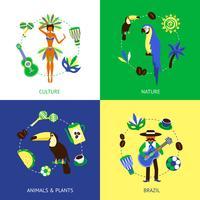 Concept de design du Brésil vecteur