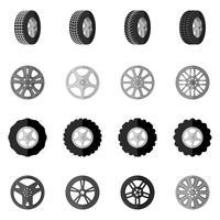 pneu icône noir vecteur