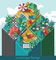 Concept d'aménagement paysager