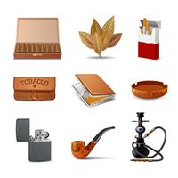 Tabac Icon Set vecteur