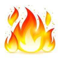 Icône décorative de feu