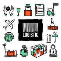 jeu d'icônes de logistique