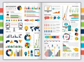 Ensemble plat infographique vecteur