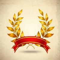 couronne de laurier réaliste