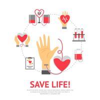 Concept plat de donneur vecteur