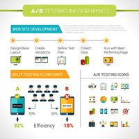 Ab test d'infographie vecteur