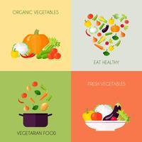 Ensemble plat de légumes vecteur