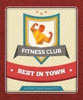 Affiche de club de fitness