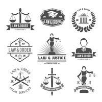 droit étiquettes icônes définies vecteur