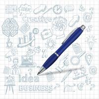 Fond créatif avec stylo vecteur