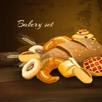 Affiche de pain de boulangerie vecteur