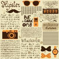 Journal vintage sans soudure hipster vecteur