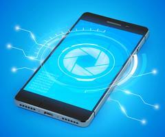 Smartphone Ui réaliste vecteur