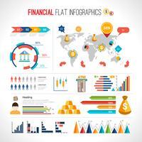 Finance plat infographique vecteur