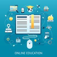 Concept de conception de l'éducation en ligne vecteur