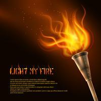 Contexte réaliste de la flamme