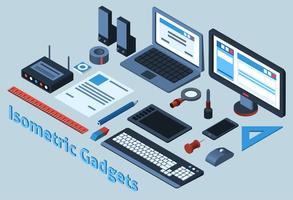 Gadgets isométriques vecteur
