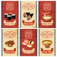 Bannières alimentaires asiatiques