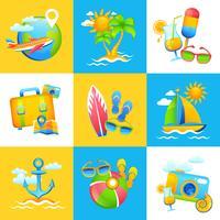 Concept de design de vacances d'été vecteur