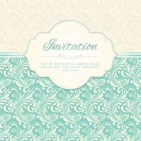 Carte d'invitation motif ornemental vecteur