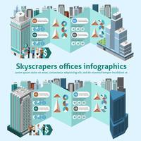 Bureaux gratte-ciel infographie vecteur