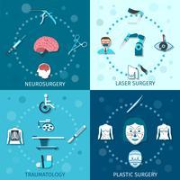 Kit de chirurgie médicale vecteur