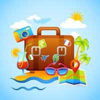 Concept de vacances et de tourisme vecteur