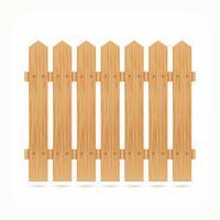 Tuile de clôture en bois vecteur
