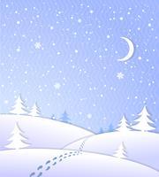 Fond d'hiver avec des chutes de neige vecteur