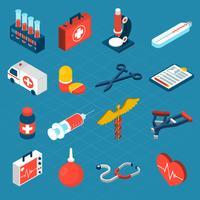 Icônes médicales isométriques