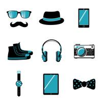 Collection d'articles de hipster