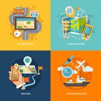 Composition plate d'icônes de navigation