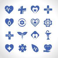 Logo médical bleu
