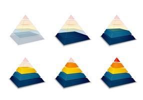 Progression pyramidale ou barre de chargement vecteur
