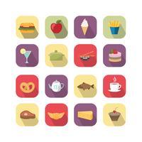 Éléments de design alimentaire vecteur