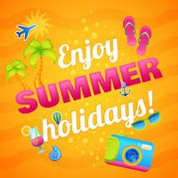 Affiche de vacances d'été vecteur