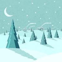 Paysage d'hiver vecteur