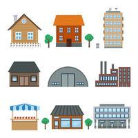 icônes de construction vecteur