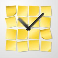 Design d'horloge papier avec des autocollants